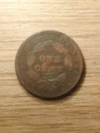 MONNAIE COIN ETATS UNIS USA LARGE CENT ONE CENT 1838 CORONET HEAD - Federal Issues