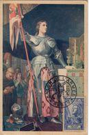 Carte Maximum Avec N°768 Jeanne D'Arc Oblit Salon De L'Armée Paris 1953 - 1940-49
