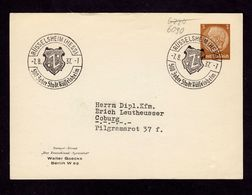 DR Postkarte RÜSSELSHEIM (HESS) - Coburg - 7.8.37 - Mi.513 - OWSt. 500 Jahre Stadt Rüsselsheim - Storia Postale