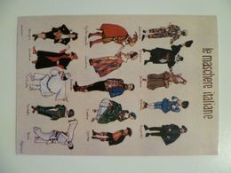Carte Postale / Italie / Le Maschere Italiane / Regioni Italiane Jacaur Poster Firenze - Pompei