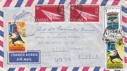 ESPAGNE :  Divers Sur Recommandé Provisoire Pour L'Italie - 1961-70 Brieven