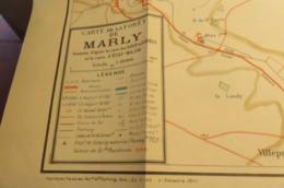 CARTE DE LA FORET DE MARLY AU 15 000 ème  1948 SAINT GERMAIN EN LAYE LE VESINET - Topographical Maps