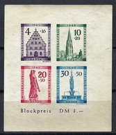 Allemagne - Baden - Blockpreis DM 3 - Sans Charnière - 1949 - Rousseurs - Bade