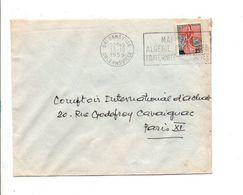 ALGERIE LETTRE  DE ORLEANSVILLE POUR LA FRANCE 1959 - Algérie (1924-1962)