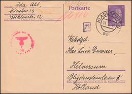 P 299I Hitler 6 Pf.ennig, Zensur Oberkommando Der Wehrmacht KLAGENFURT 14.2.42  - Stamped Stationery