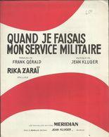 """""""Quand Je Faisais Mon Service Militaire"""" Rika Zaraï - Paroles De Frank Gérald, Musiques De Jean Kluger - Musique & Instruments"""