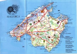 Carte Mallorca Perlas Oquidea Majorque Carte Ile - Cartes