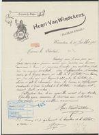 Belgique - Facture Illustrée (Warneton, 1908) : Brasserie La Poste : Henri Van Windekens, Place Du Rivage / Bière. - 1900 – 1949