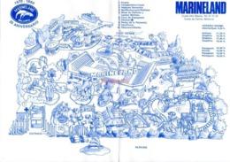 Carte Marineland Parc Attraction 20 Eme Anniversaire Mallorca 1990 Costa De Calvia - Cartes