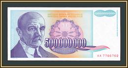 Yugoslavia 500000000 Dinars 1993 P-134 (134a) UNC - Jugoslavia