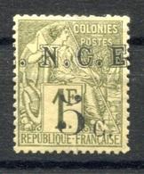 RC 17730 Nelle CALÉDONIE N° 10 TYPE ALPHÉE DUBOIS VARIÉTÉ SURCHARGE POINT DEVANT N NEUF (*) MNG (VOIR DESCRIPTION ) - Nouvelle-Calédonie