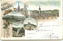 TCHEQUIE - Gruss Aus Wischau - Grosser Platz, S. Martin .... - Multi-vues 1898 - Czech Republic