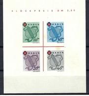 Allemagne - Baden - Blockpreis DM 3, 50 - Sans Charnière - 1949 - Infime Rousseur - Bade