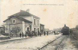 CPA 33 Gironde La Côte D'Argent AUDENGE (Bassin D'Arcachon) La Gare - Train  Locomotive - Andere Gemeenten
