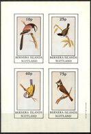 {B287} Birds IV Sheet Of 4 Imperf. MNH** LABEL Cinderella !! - Fantasie Vignetten