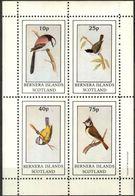 {B288} Birds IV Sheet Of 4 MNH** LABEL Cinderella !! - Fantasie Vignetten