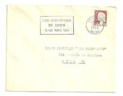 RHONE - Dépt N° 69 = LYON GARE 1964 = FLAMME Non Codée = SECAP ' FOIRE INTERNATIONALE' - Postmark Collection (Covers)