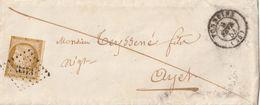 PC 3373 TONNEINS  SUR CERES N°1 (filet Touché 2 Côtés) + CACHET TYPE 15 - 1853 - 1849-1876: Klassik