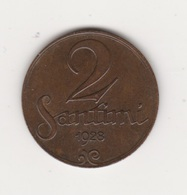 2 SANTIMI 1928 BRONZE - Latvia