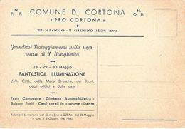 CORTONA - AREZZO - FESTEGGIAMENTI DI S.MARGHERITA 1938 - PARTITO NAZIONALE FASCISTA / ORDINE NAZIONALE DOPOLAVORO - Arezzo