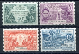 RC 17738 SOUDAN COTE 23€ N° 89 / 92 SÉRIE EXPOSITION COLONIALE 1931 NEUF * TB MH VF - Unused Stamps