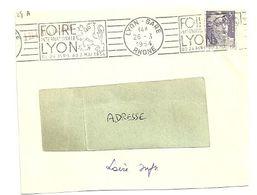 RHONE - Dépt N° 69 = LYON GARE 1954 = FLAMME SUPERBE = RBV  Illustrée D'un LION HERALDIQUE ' FOIRE INTERNATIONALE ' - Maschinenstempel (Werbestempel)