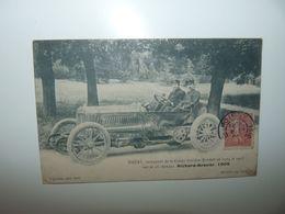SPORT AUTOMOBILE THERY VAINQUEUR DE LA COUPE GORDON BENNETT EN 1904 ET 1905 SUR SA 96 CHEVAUX RICHARD BRASIER - Voitures De Tourisme