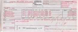 Ticket D'avion Sabena Bruxelles - Düsseldorf - Nremberg - Düsseldorf - Tickets