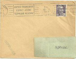 RHONE - Dépt N° 69 = LYON GARE 1953 = FLAMME RBV Multiple ' ARMEE FRANCAISE / ESPRIT JEUNE / TECHNIQUE MODERNE ' - Postmark Collection (Covers)