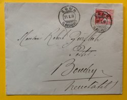 10174 - Lettre Cour Lausanne 21..01.1910 Pour Boudry - Suisse