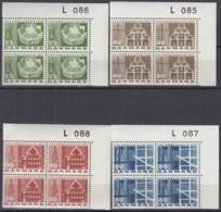 DÄNEMARK 451-454 Y, 4erBlock, Eckrand Oben Rechts, Postfrisch **, 800 Jahre Kopenhagen 1967 - Nuovi
