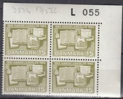 DÄNEMARK 426 Y, 4erBlock, Eckrand Oben Rechts, Postfrisch **, 100 Jahre Handelsschule 1965 - Nuovi