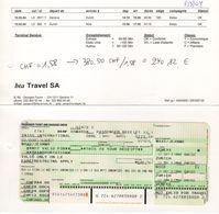 Reçu Ticket D'avion Swiss International Genève Zurich Nice Zurich Genève - Tickets