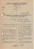 Formulaire Régie Des Télégraphes Et Téléphones - Avis D'arrivée D'un Télégramme - Documentos Del Correo
