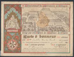 Belgique - Carte D'honneur Du Pensionnat De Spermalie à Bruges (1896) / Litho. Ch. Vande Byere (Bruges). - Vieux Papiers