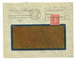 RHONE - Dépt N° 69 = LYON GARE 1932 = FLAMME FLIER 'CHEQUES POSTAUX / DEMANDEZ (lettres Limées) / D'un COMPTE COURANT ' - Maschinenstempel (Werbestempel)