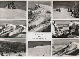 - L'HIVER AU CHASSERON (Canton De VAUX) - Photos A. DERIAZ. - Scan Verso - - VD Waadt