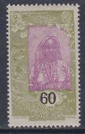 Cote Des Somalis N° 112 XX  : Timbres Surchargés : 60 Sur 75 C.  Sans Charnière, TB - French Somali Coast (1894-1967)