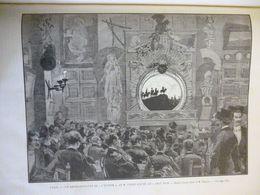 """Paris , Représentation De """" L'Epopée """"de Caran D'Ache  Au """" Chat Noir """" Dessin De Tinayre , Gravure De Gusman 1887 - Documents Historiques"""