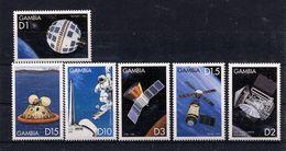Gambia, 1999,  Space,     Apollo ,  Telstar,  Skylab,  COBE,  Mars-3 - Gambia (1965-...)