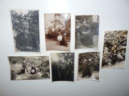 ASIE VIETNAM SAIGON 6 PHOTOS + 1 CPA NOTABLES HOMMES DE LOI HOMMES DE FOI ANNEES 20 LEGENDES AU DOS A VOIR N° 6 - Viêt-Nam