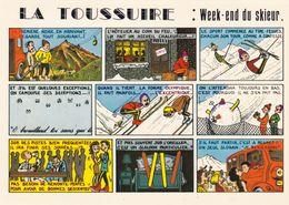 73. LA TOUSSUIRE. RARETE. HUMOUR. WEEK END DU SKIEUR. DESSIN GIL SPANO. ANNÉE 1983 + TEXTE - France