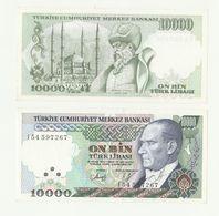 Banconota TURKIYE MERKEZ BANKASI - 10000 LIRA ON BIN TURK LIRASI - TURCHIA 1970 - Turquie