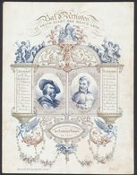 Carte En Porcelaine (Grand Format) - Bal Des Artistes Au Grand Salon Des Beaux-Arts (Académie Royal De Gand 1844) - Gent