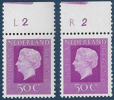 NVPH 945 - 1972 - Juliana Regina - Plaatnummer L2 En R2 - Nuovi