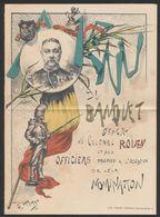 Belgique - Menu Illustré (Litho) Banquet Offert Au Colonel Rouen Et Aux Officiers Promus / Treurenberg (Bruxelles, 1891) - Menus