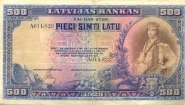 500 LATS 1929 - Latvia