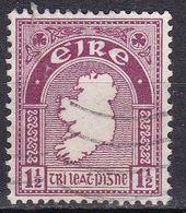 Irlanda, 1922/23 - 1 1/2p Map Of Ireland - Nr.67 Usato° - 1922-37 Stato Libero D'Irlanda