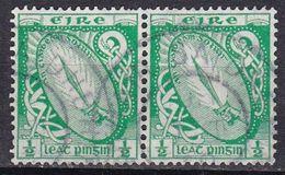Irlanda, 1922/23 - 1/2p Sword Of Light, Coppia - Nr.65 Usato° - 1922-37 Stato Libero D'Irlanda