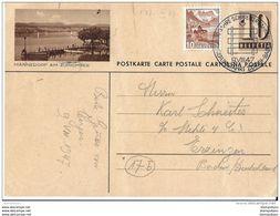 """86 - 5 - Entier Postal Avec Illustration """"Männedorf"""" Affranchissement Complémentaire Et Oblit Spéciale 1947 - Postwaardestukken"""